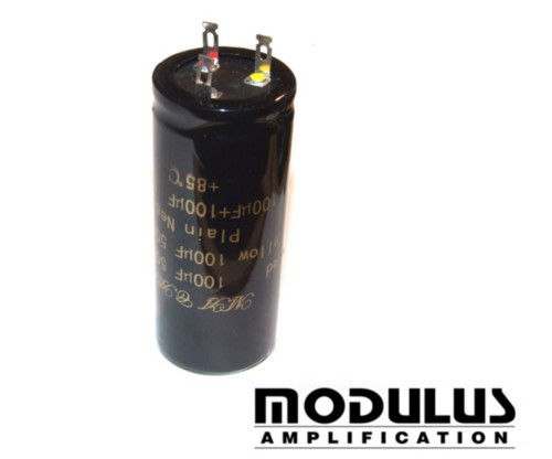 CAPACITOR CAN 100uF + 100uF- 500V - MA CAP
