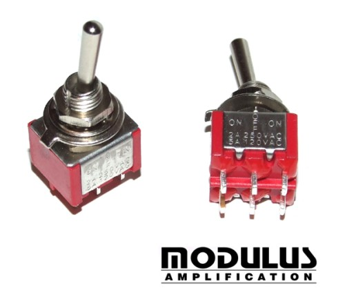 Miniature Toggle Switch Dpdt On Off On Modulus Uk