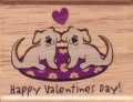 Happy Valentine's Day!' Puppy Love Valentine Rubber Stamp by Canadian Maple Collections