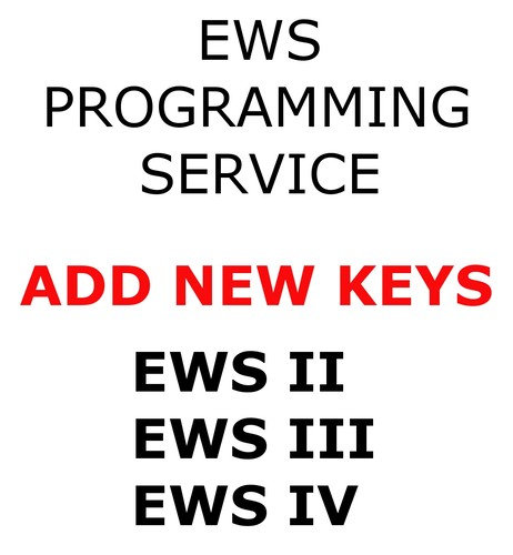 EWS PROGRAMMING SERVICE FOR BMW VEHICLES