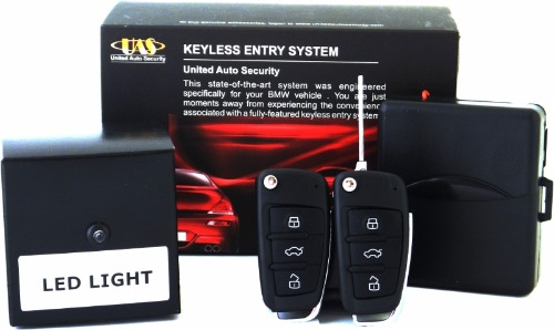 Keyless Entry System 2 Flip Key Remotes for BMW E34 (89-91)