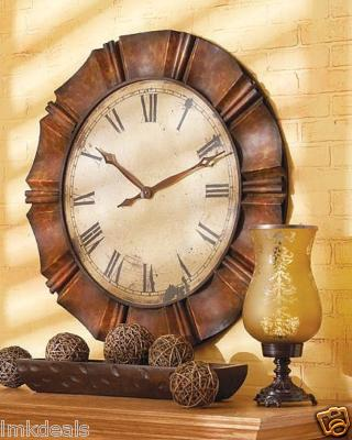 Oversized Antique Face Metal Wall Clock