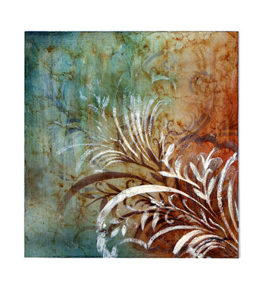 Metallic Blue Leaf Scroll Iron Wall Decor - HomeboundDecor.com