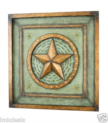 Rustic Frame With Embossed Star