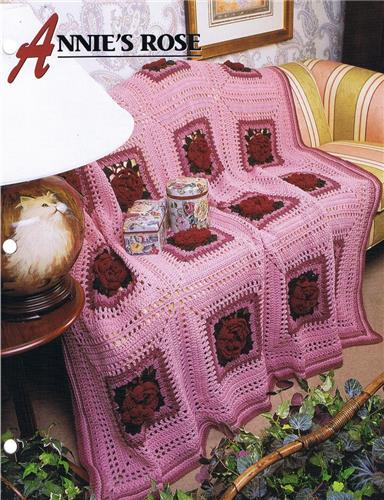 Annie's Rose  Annie's Attic Crochet Afghan Pattern Instructions