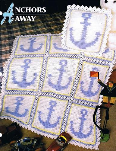 Anchors Away  Annie's Attic Crochet Afghan Pattern Instruction Leaflet