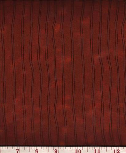 Honey and Me  Burnt Orange Two-Toned w/ Black Stripe  Fabric 1/2 Yd Cut  Bolt