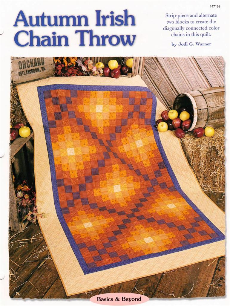 Autumn Irish Chain Throw Creative Scrap Quilt Pattern Leaflet