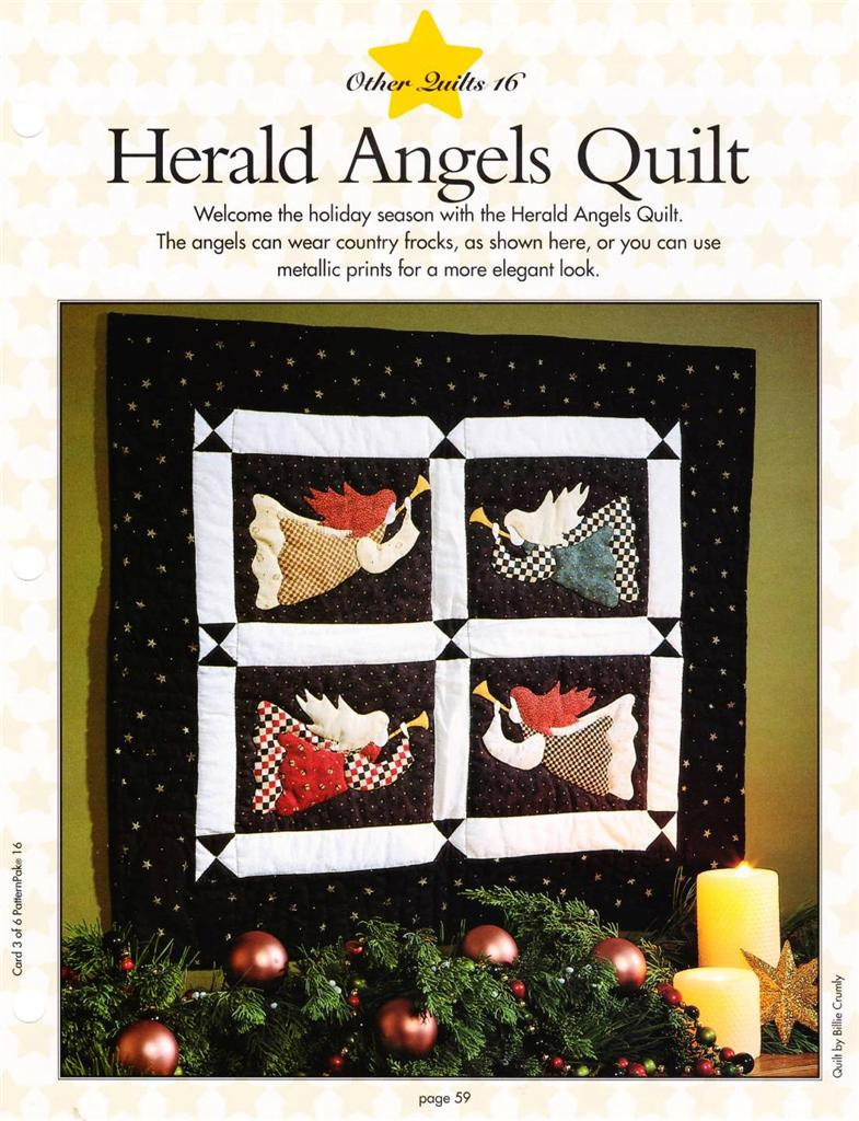 Angels Wall Quilt+ Angels Tree Skirt + Angel Block Quilt Patterns