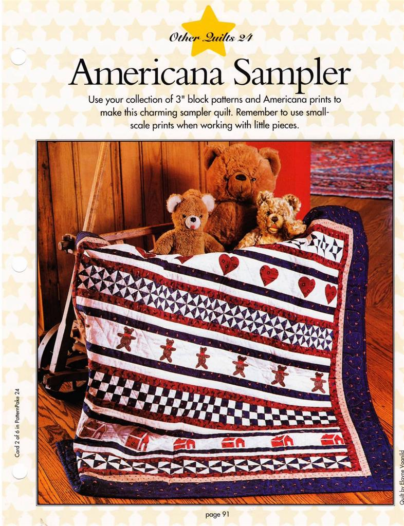 America Sampler Quilt +  Tool Caddy +  House  Block Quilt Patterns