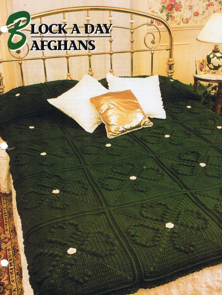 Block a Day   Annie's Attic Crochet Afghan Pattern Instructions