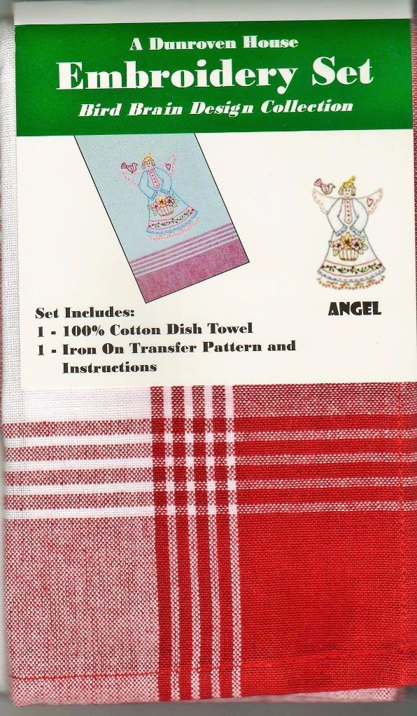Angel  Dish Towel  Embroidery Set    1 Towel + Transfer Pattern  Kit
