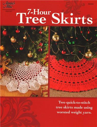 7 Hour Tree Skirts Christmas Crochet Pattern Leaflet