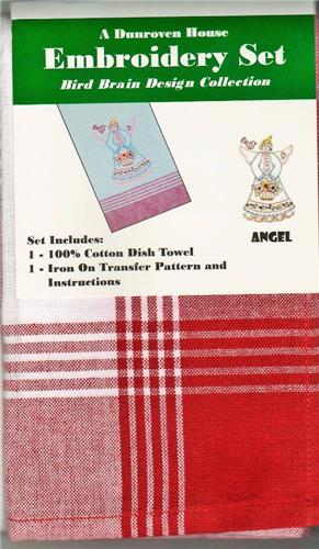 Angel  Dish Towel  Embroidery Set    1 Towels + Transfer Pattern  Kit