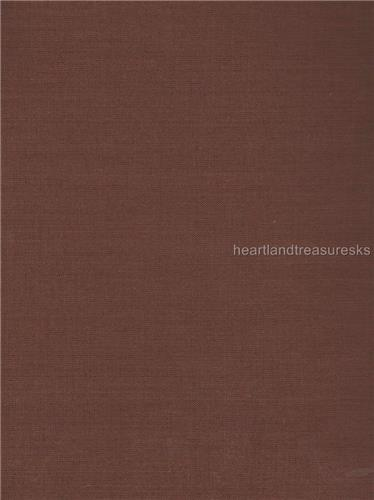 Dunroven House H-901  Solid Brown Fabric 1/2 Yd Cut Off The Bolt