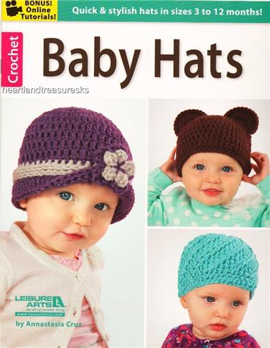 10 Baby Hats  Crochet Pattern Book    3 to 12 Months