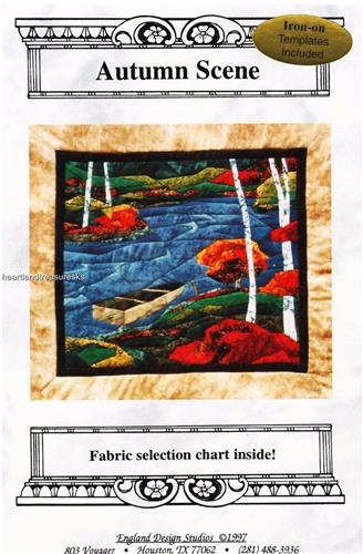 Autumn Scene  Applique Wall Quilt Pattern