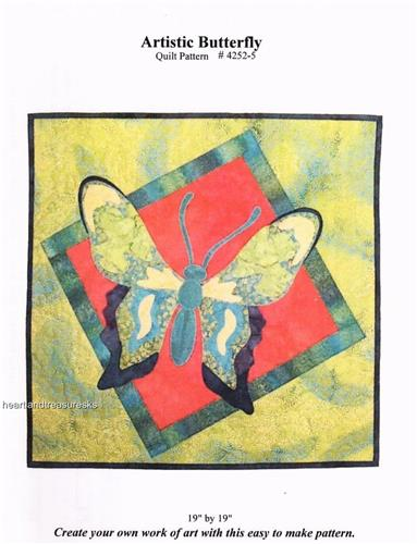Artistic Butterfly   Applique & Pieced Wall Quilt Pattern