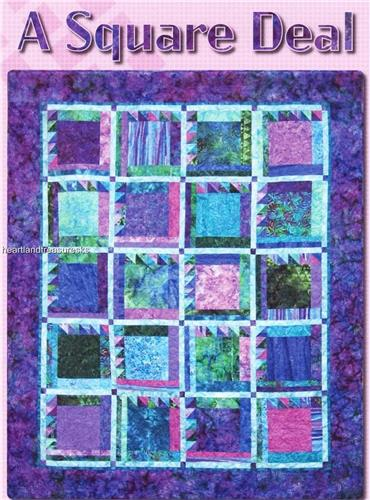 A Square Deal   Pieced Quilt Pattern  4 Versions Included
