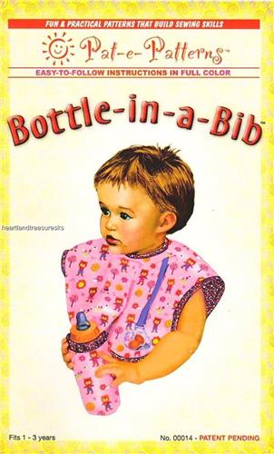 Bottle in a Bib   Sewing Pattern  Baby Bottle or Cup Holder 2 Sizes