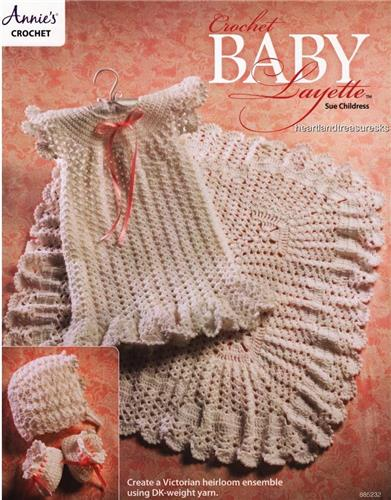 Crochet Baby Layette Victorian Heirloom Ensemble Crochet Pattern Leaflet