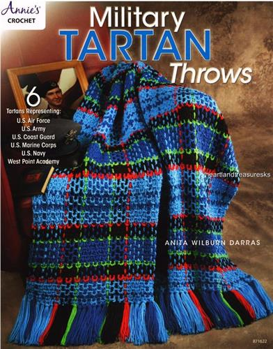 Military Tartan Throws / Afghans Annie's  Crochet Pattern Booklet