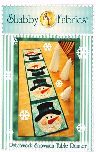 Patchwork Snowman Table Runner Applique & Pieced Quilt Pattern