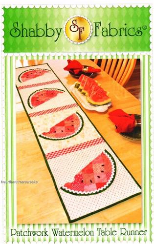 Patchwork Watermelon Table Runner Applique & Pieced Quilt Pattern