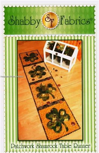 Patchwork Shamrock Table Runner Applique & Pieced Quilt Pattern