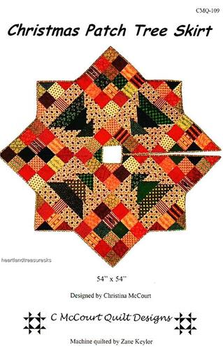 Christmas Patch Tree Skirt  Pieced Quilt Pattern