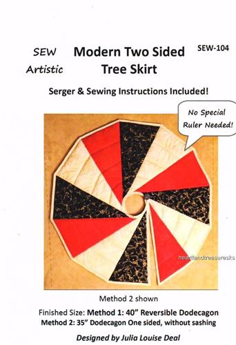 Modern Two Sided  Tree Skirt  Pieced Quilt Pattern