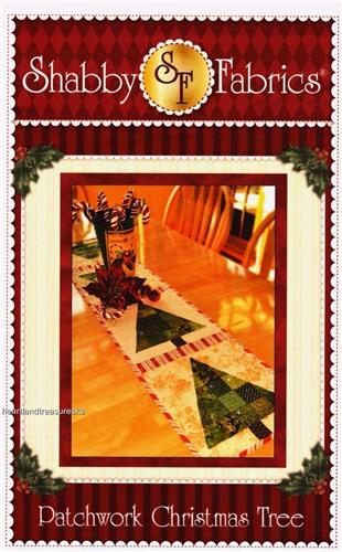 Patchwork Christmas Tree  Table Runner Applique & Pieced Quilt Pattern