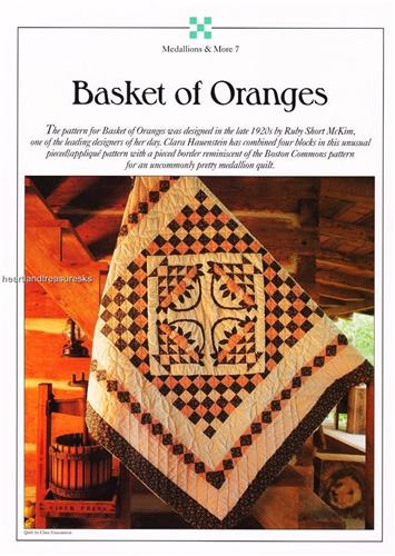 Basket of Oranges   Best Loved Quilt Pattern w/ Flexible Plastic Templates