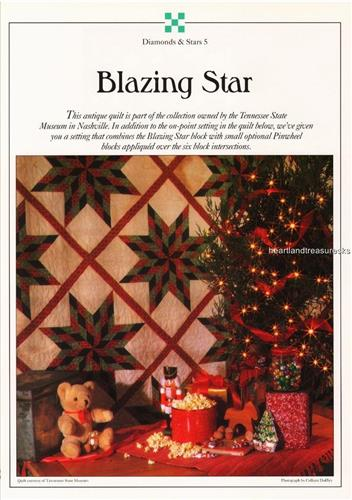 Blazing Star   Best Loved Quilt Pattern w/ Flexible Plastic Template