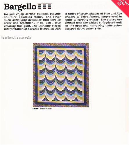 Bargello Spinning Spools Quilt Pattern Leaflet
