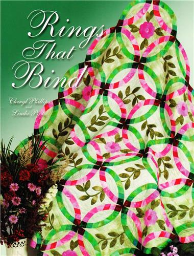 Rings That Bind   Double Wedding Ring Quilt Pattern Book w/ Template