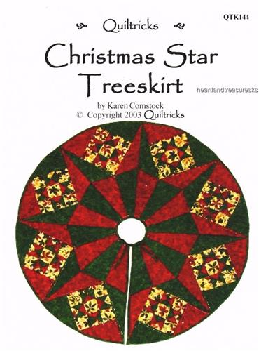 Christmas Star Treeskirt  Pieced Quilt Pattern