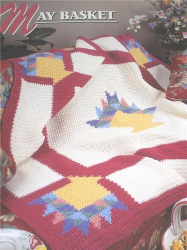 May Basket   Annie's Attic Crochet Afghan Pattern Instructions