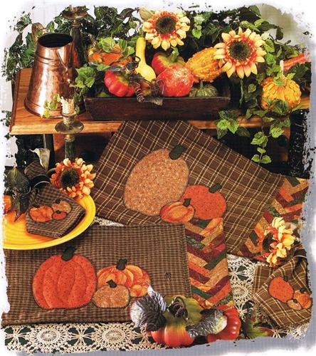 Pumpkin Harvest  Creative Scrap Napkin & Placemat Applique Quilt Pattern Leaflet