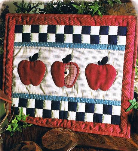 Apple Patch Banner   Wall Quilt Pattern Leaflet w/ Flexible Templates