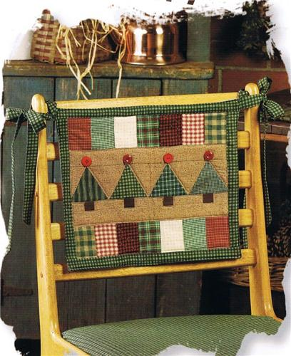 Country Woods Chairback Quilted Pattern Leaflet w/ Flexible Template