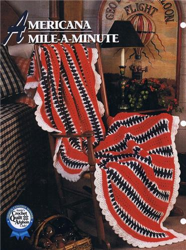 Americana Mile  Annie's Attic Crochet Afghan Pattern Instructions