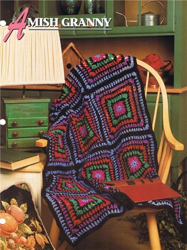 Amish Granny  Annie's Attic Crochet Afghan Pattern Instructions