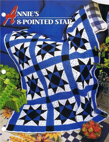 Annie's 8-Pointed Star  Annie's Attic Crochet Afghan Pattern Instructions