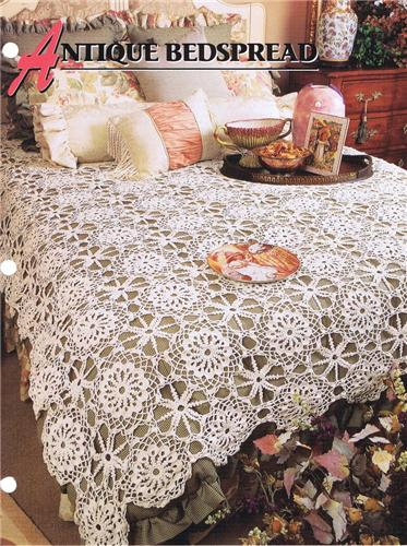 Antique Bedspread  Annie's Attic Crochet Afghan Pattern Instructions
