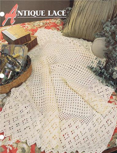 Antique Lace   Annie's Attic Crochet Afghan Pattern Instructions