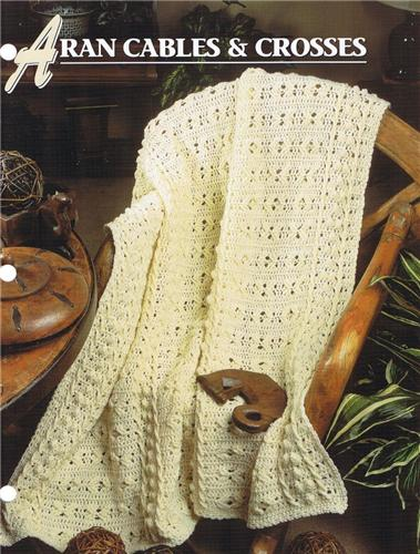 Aran Cables & Crosses   Annie's Attic  Crochet Afghan Pattern Instructions