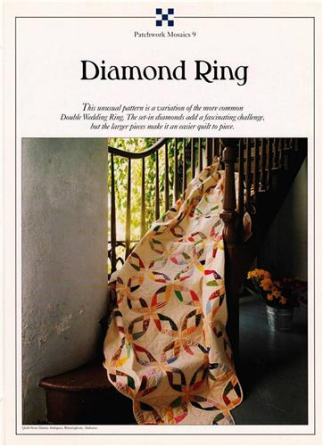 Diamond Ring   Best Loved Quilt Pattern w/ Flexible Plastic Templates