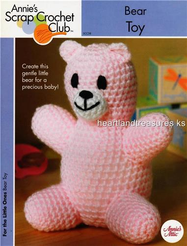 Bear Toy    Annie's Crochet Scrap Pattern Instruction Leaflet