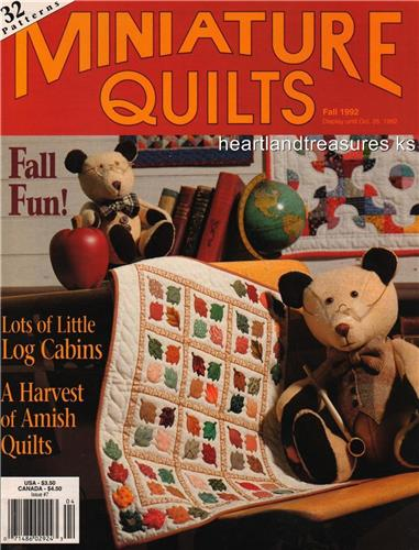 Miniature Quilt Magazine  #7   32+ Miniature Quilt Patterns Fall 1992